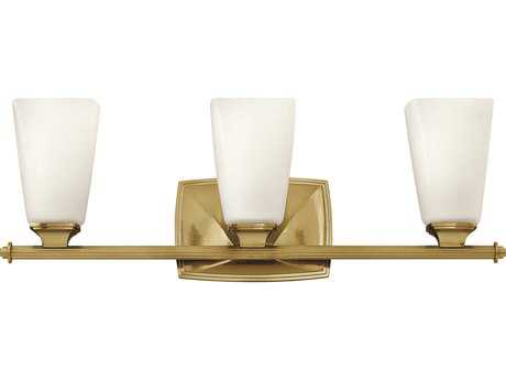 Hinkley Lighting Darby Brushed Caramel Three-Light Vanity Light