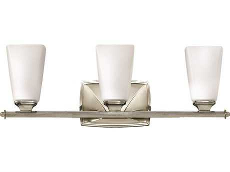 Hinkley Lighting Darby Polished Nickel Three-Light Vanity Light
