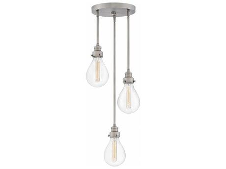 Hinkley Lighting Denton Pewter Three-Light 13'' Wide Pendent Light