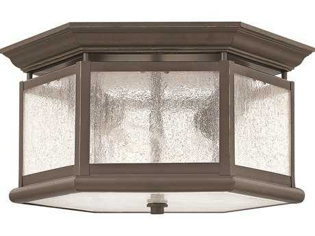 Hinkley Lighting Edgewater Oil Rubbed Bronze Two-Light Outdoor Ceiling Light HY1683OZ
