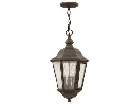Hinkley Lighting Edgewater Oil Rubbed Bronze Three-Light Outdoor Pendant Light
