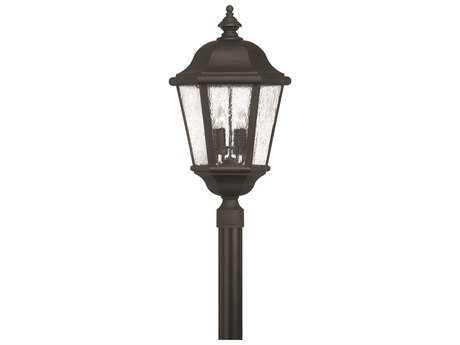 Hinkley Lighting Edgewater Black Four-Light Outdoor Post Light
