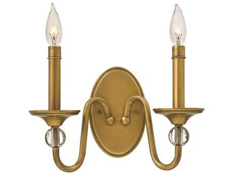 Hinkley Lighting Eleanor Heritage Brass Two-Light Wall Sconce HY4952HB