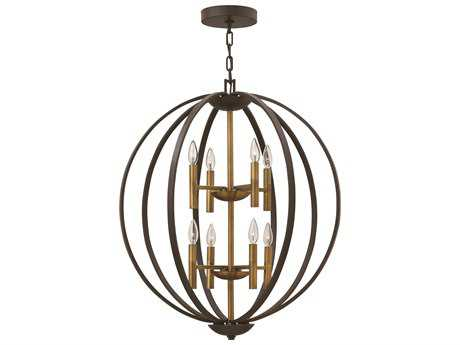 Hinkley Lighting Euclid Spanish Bronze Eight-Light Chandelier HY3468SB