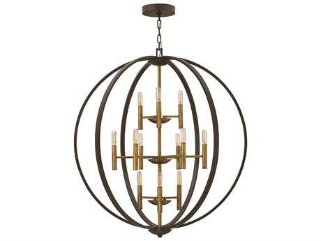 Hinkley Lighting Euclid Spanish Bronze 12-Light Chandelier HY3469SB