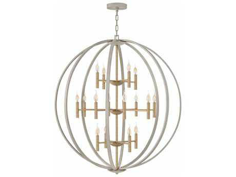 Hinkley Lighting Euclid Cement Gray 16-Light 44'' Wide Grand Chandelier HY3464CG