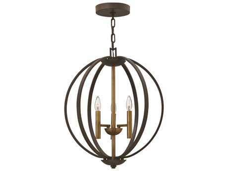 Hinkley Lighting Euclid Spanish Bronze Three-Light Mini-Chandelier HY3463SB