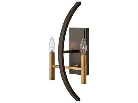 Hinkley Lighting Euclid Spanish Bronze Two-Light Wall Sconce HY3460SB