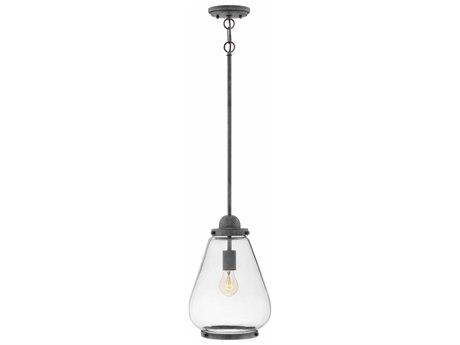 Hinkley Lighting Finley Aged Zinc 10'' Wide Outdoor Hanging Light