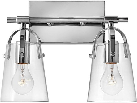 Hinkley Lighting Foster Chrome Glass Vanity Light