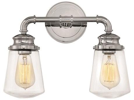 Hinkley Lighting Fritz Chrome Two-Light 15'' Wide Vanity Light