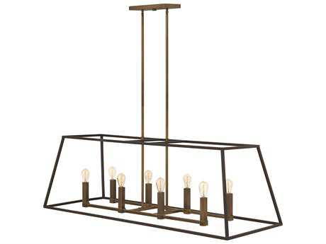 Hinkley Lighting Fulton Bronze Eight-Light Island Light HY3338BZ