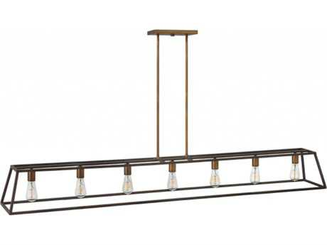 Hinkley Lighting Fulton Bronze Seven-Light 65'' Wide Incandescent Island Ceiling Light HY3355BZ