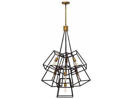 Hinkley Lighting Fulton Bronze Seven-Light 27.75'' Wide Incandescent Pendant Ceiling Light HY3357BZ