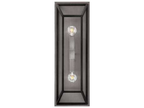 Hinkley Lighting Fulton Aged Zinc Two-Light 7.5'' Wide Incandescent Wall Sconce HY3330DZ