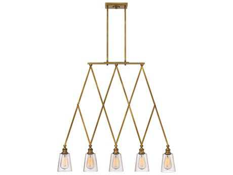 Hinkley Lighting Gatsby Heritage Brass Five-Light Island Light HY4935HB