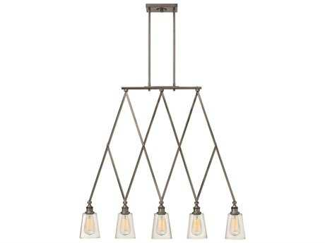 Hinkley Lighting Gatsby Polished Antique Nickel Five-Light Island Light HY4935PL