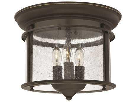 Hinkley Lighting Gentry Olde Bronze Three-Light Flush Mount Light HY3473OB