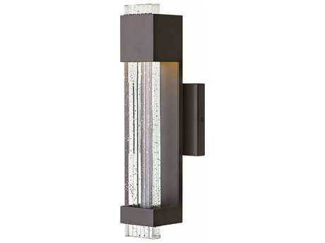 Hinkley Lighting Glacier Bronze with Clear Seedy Glass 16'' High LED Outdoor Wall Light