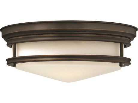 Hinkley Lighting Hadley Oil Rubbed Bronze Three-Light Incandescent Flush Mount Light HY3301OZ