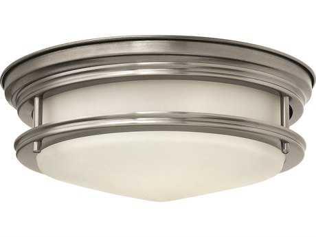Hinkley Lighting Hadley Antique Nickel Two-Light Incandescent Flush Mount Light HY3302AN
