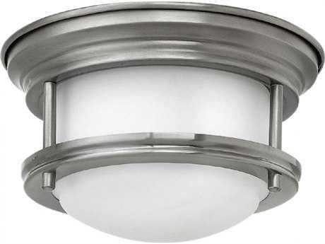 Hinkley Lighting Hadley Antique Nickel 7.75'' Wide LED Flush Mount Ceiling Light