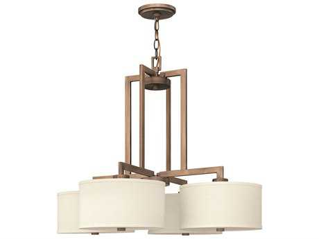 Hinkley Lighting Hampton Brushed Bronze Four-Light 29 Wide Chandelier HY3214BR