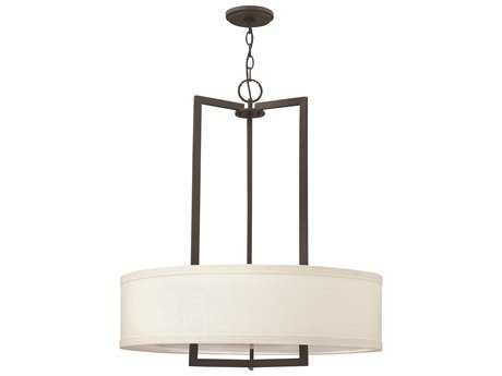 Hinkley Lighting Hampton Buckeye Bronze Three-Light Incandescent Pendant Light HY3204KZ