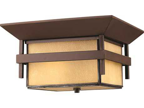 Hinkley Lighting Harbor Anchor Bronze Two-Light Incandescent Outdoor Ceiling Light HY2573AR