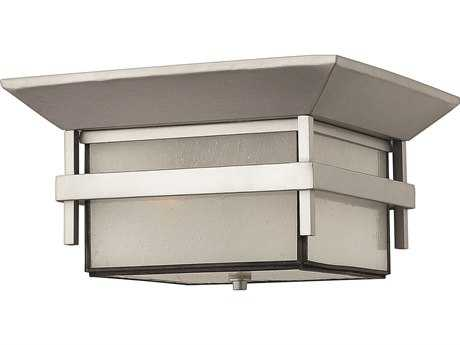 Hinkley Lighting Harbor Titanium Two-Light Incandescent Outdoor Ceiling Light