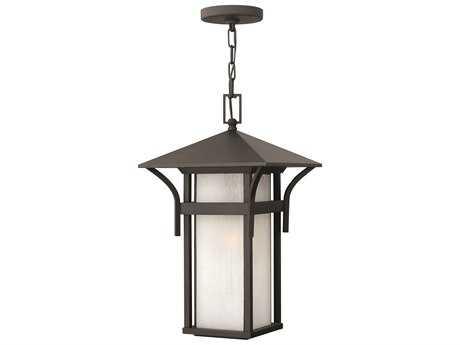 Hinkley Lighting Harbor Satin Black Incandescent Outdoor Pendant Light