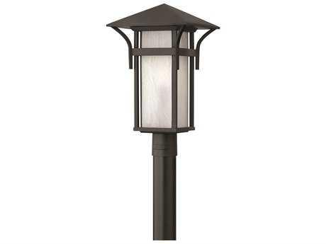 Hinkley Lighting Harbor Satin Black Incandescent Outdoor Post Light