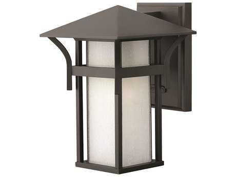 Hinkley Lighting Harbor Satin Black LED Outdoor Wall Light