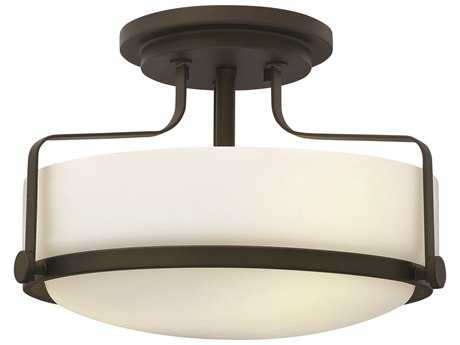 Hinkley Lighting Harper Oil Rubbed Bronze Three-Light Incandescent Semi-Flush Mount Light HY3641OZ