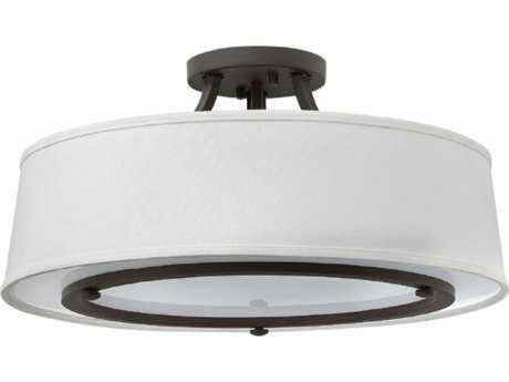 Hinkley Lighting Harrison Buckeye Bronze Three-Light Incandescent Semi-Flushmount Ceiling Light HY3703KZ
