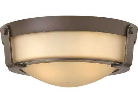 Hinkley Lighting Hathaway Olde Bronze Two-Light Incandescent Flush Mount Light HY3223OB