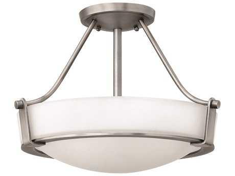 Hinkley Lighting Hathaway Antique Nickel LED Semi-Flush Mount Light