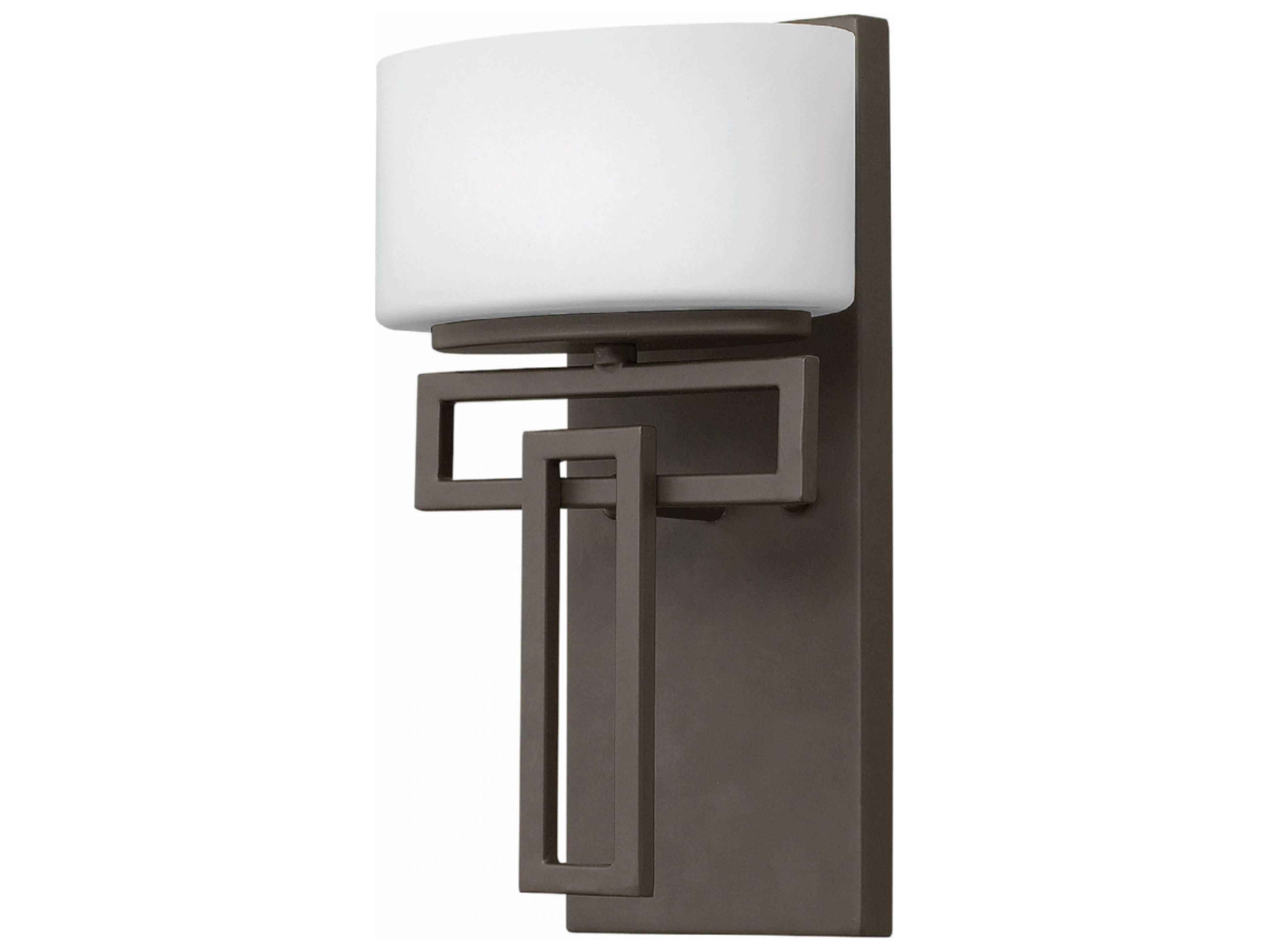 Kichler Barrington 3 Light 22 In Cylinder Vanity Light At: Hinkley Lighting Lanza Buckeye Bronze With Etched Opal