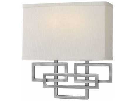 Hinkley Lighting Lanza Antique Nickel Two-light Wall Sconce HY3162AN