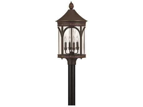 Hinkley Lighting Lucerne Copper Bronze Four-Light Incandescent Outdoor Post Light