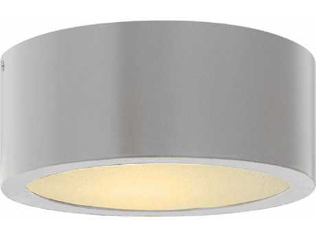 Hinkley Lighting Luna Titanium with Etched Lens Glass LED Outdoor Flush Mount HY1665TT