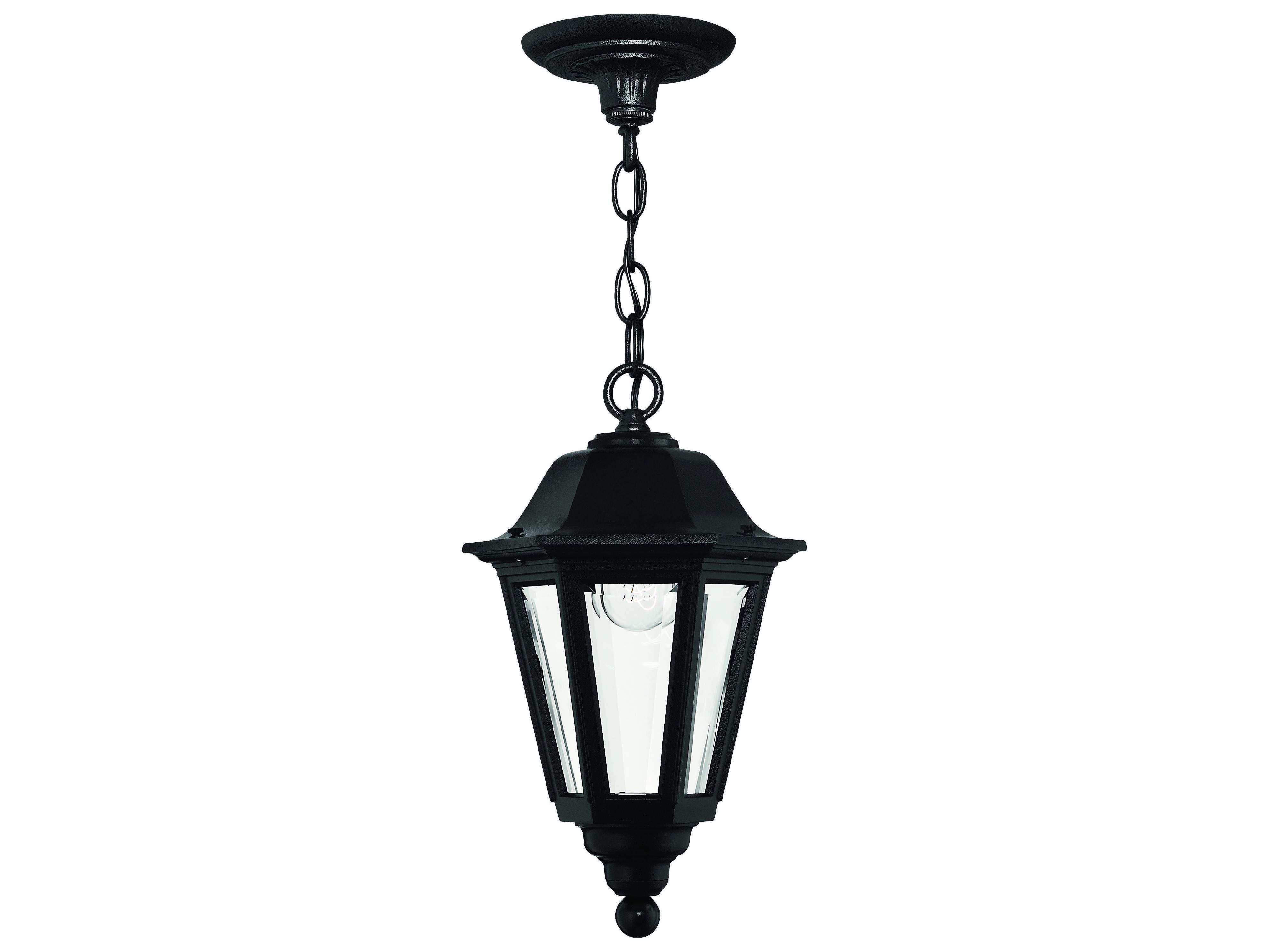 Hinkley Lighting Manor House Black Outdoor Pendant Light