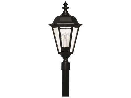 Hinkley Lighting Manor House Black Four-Light Outdoor Post Light