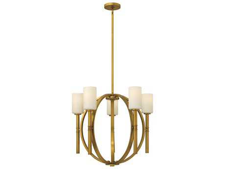 Hinkley Lighting Margeaux Vintage Brass Five-Light 26 Wide Chandelier HY3585VS