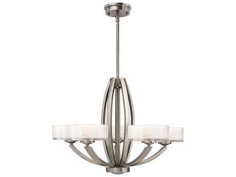Hinkley Lighting Meridian Brushed Nickel Five-Light 27 Wide Chandelier HY3875BN