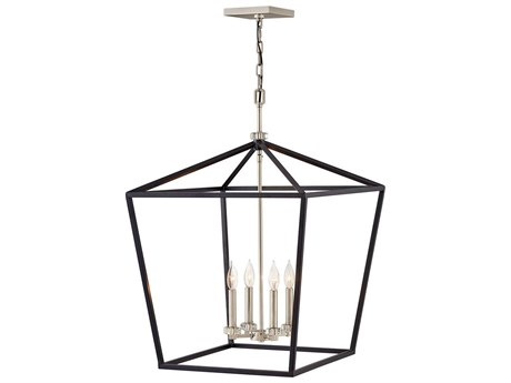 Hinkley Lighting Black 4-light 22'' Wide Crystal Mini Chandelier