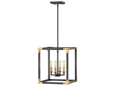 Hinkley Lighting Satin Black 4-light 14'' Wide Mini Chandelier