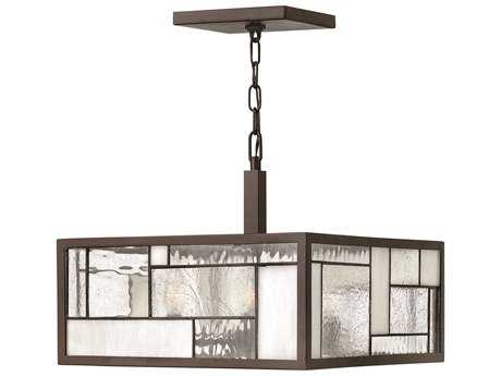 Hinkley Lighting Mondrian Buckeye Bronze Four-Light Pendant Light HY4571KZ