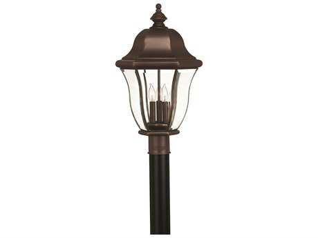 Hinkley Lighting Monticello Copper Bronze Three-Light Outdoor Post Light HY2331CB