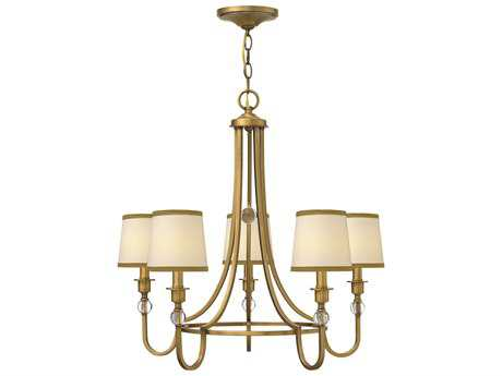 Hinkley Lighting Morgan Brushed Bronze Five-Light 27 Wide Chandelier HY4875BR